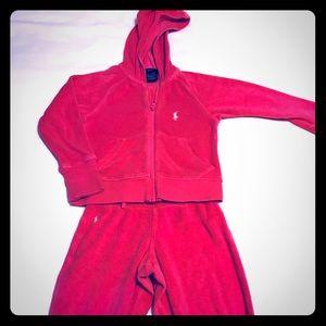 Ralph Lauren hot pink track suit toddler